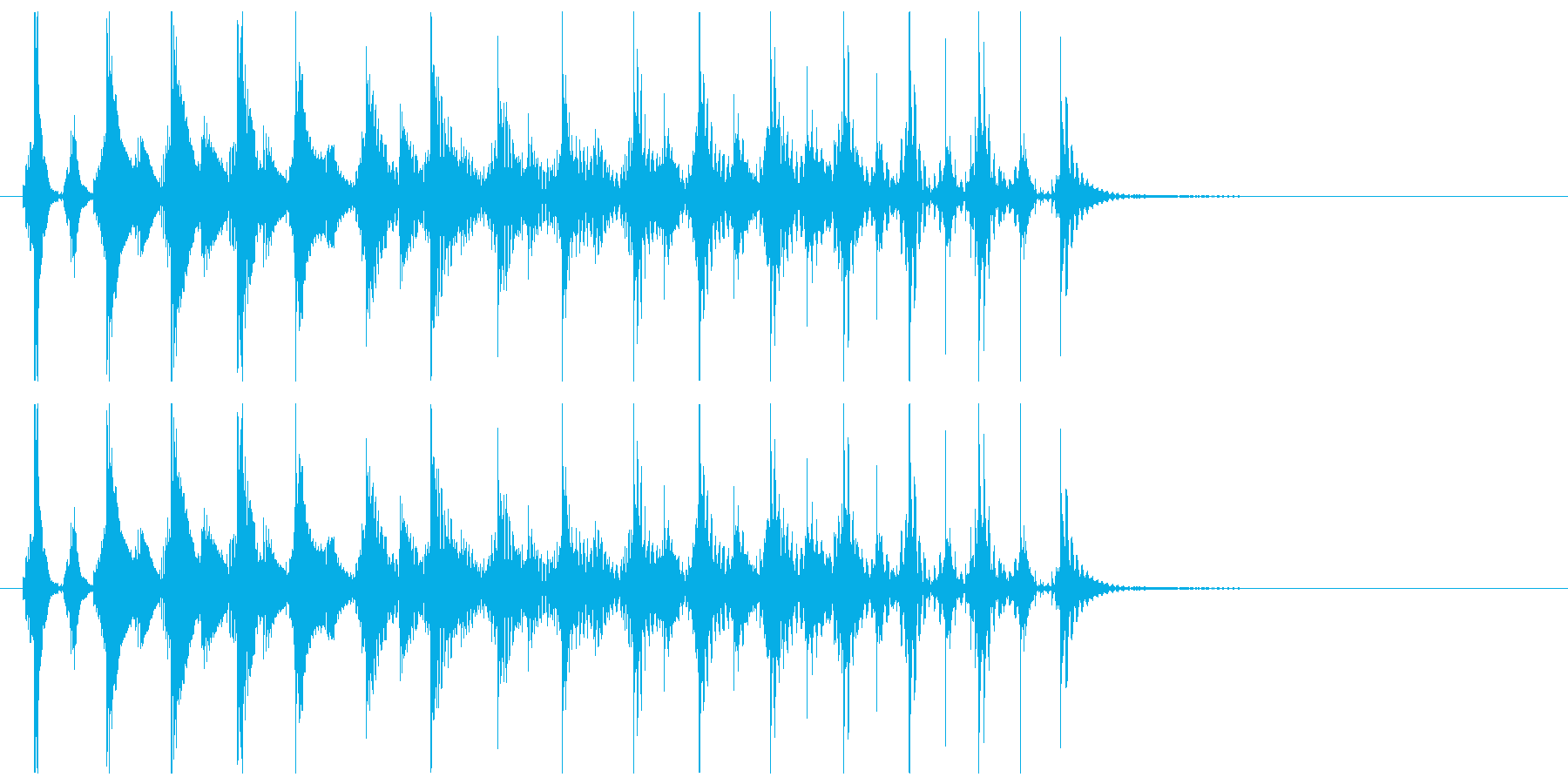 エレキギターによるテケテケの再生済みの波形