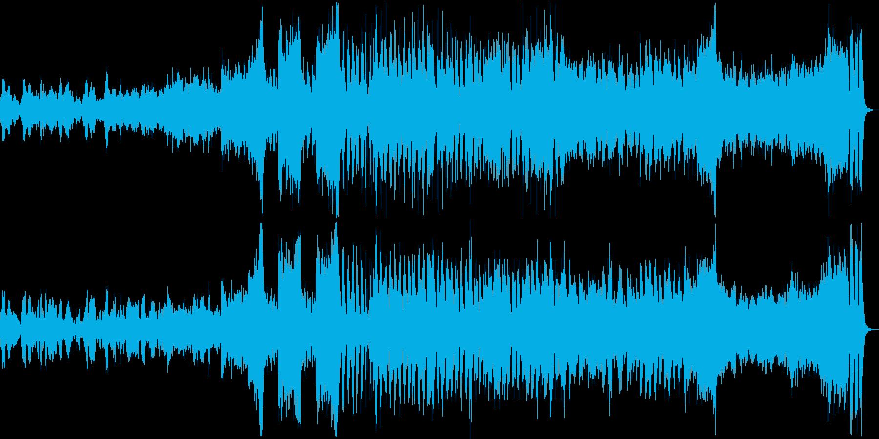 壮大な物語を想起させるオーケストラ楽曲の再生済みの波形