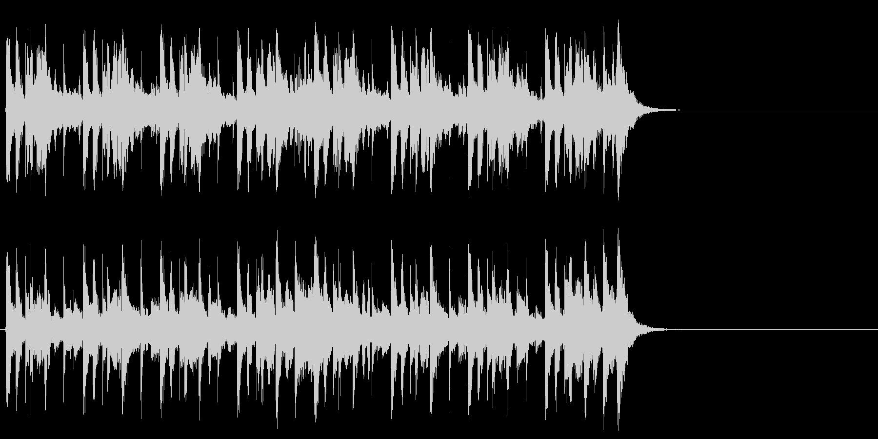 クルーズする優雅なポップ(イントロ)の未再生の波形