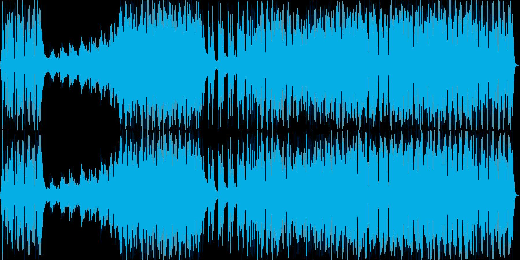 様々な展開のある疾走感のエレクトロ楽曲の再生済みの波形