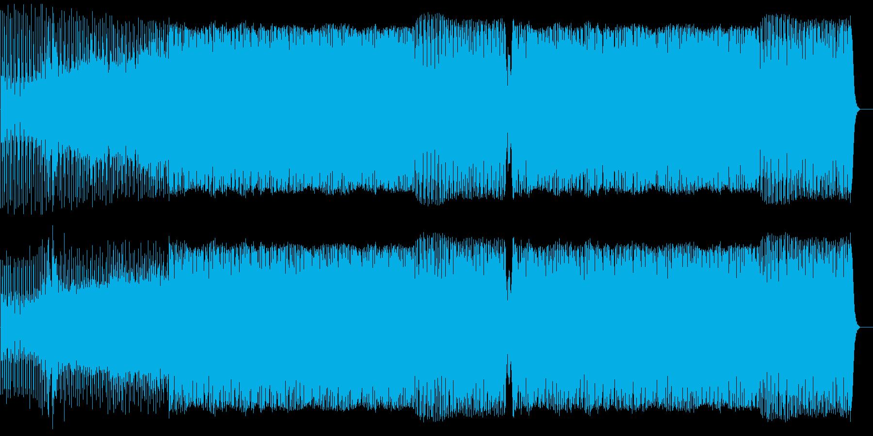 ザラザラしたサウンドが特徴のミニマル風の再生済みの波形