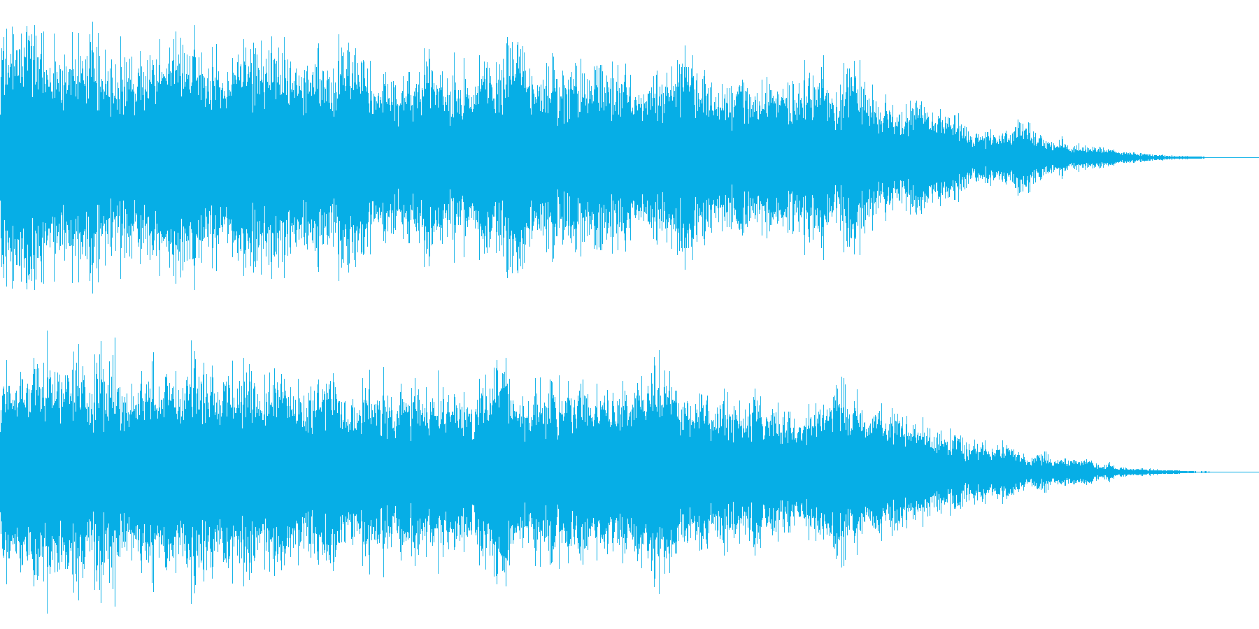 ホラー系アタック音19の再生済みの波形