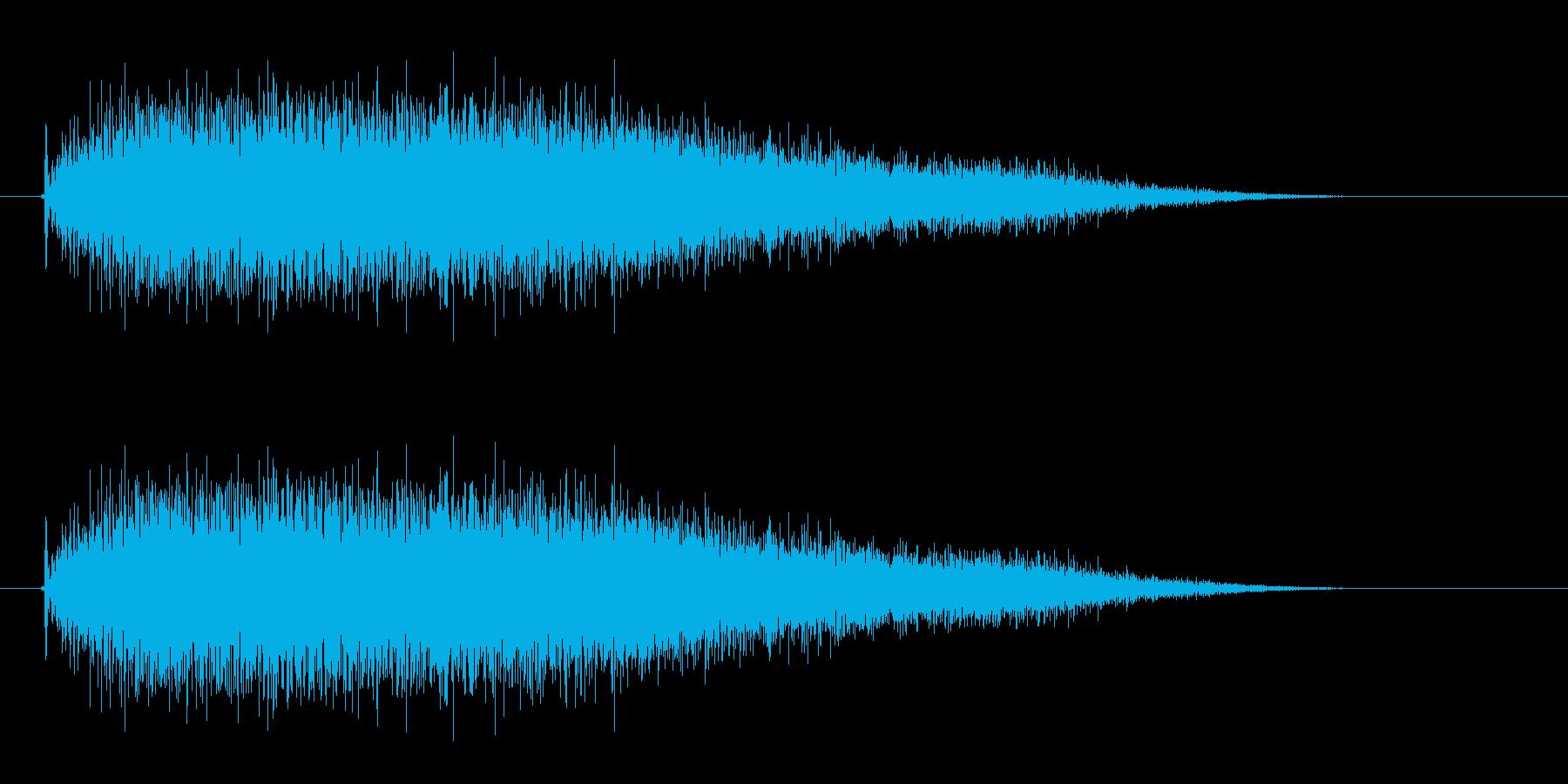 ジョワーーン(銅鑼の音)の再生済みの波形