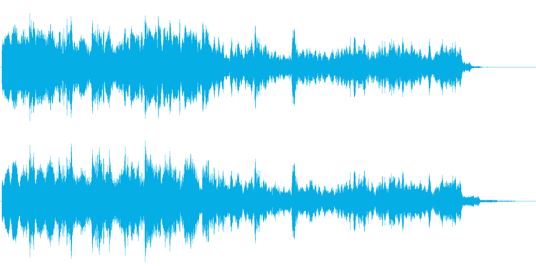 落下時の効果音の再生済みの波形