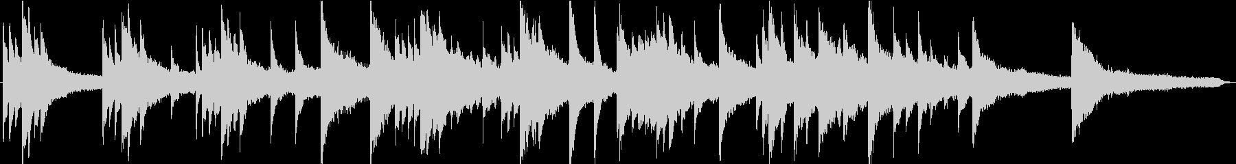 CM・企業VP用、59秒のピアノ楽曲の未再生の波形