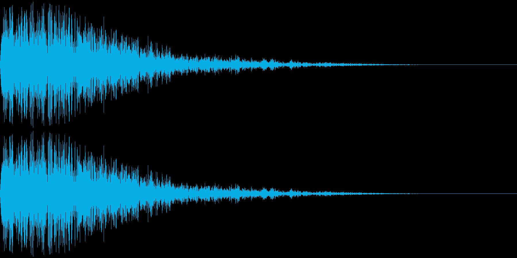 ジュァァァァ・・・の再生済みの波形