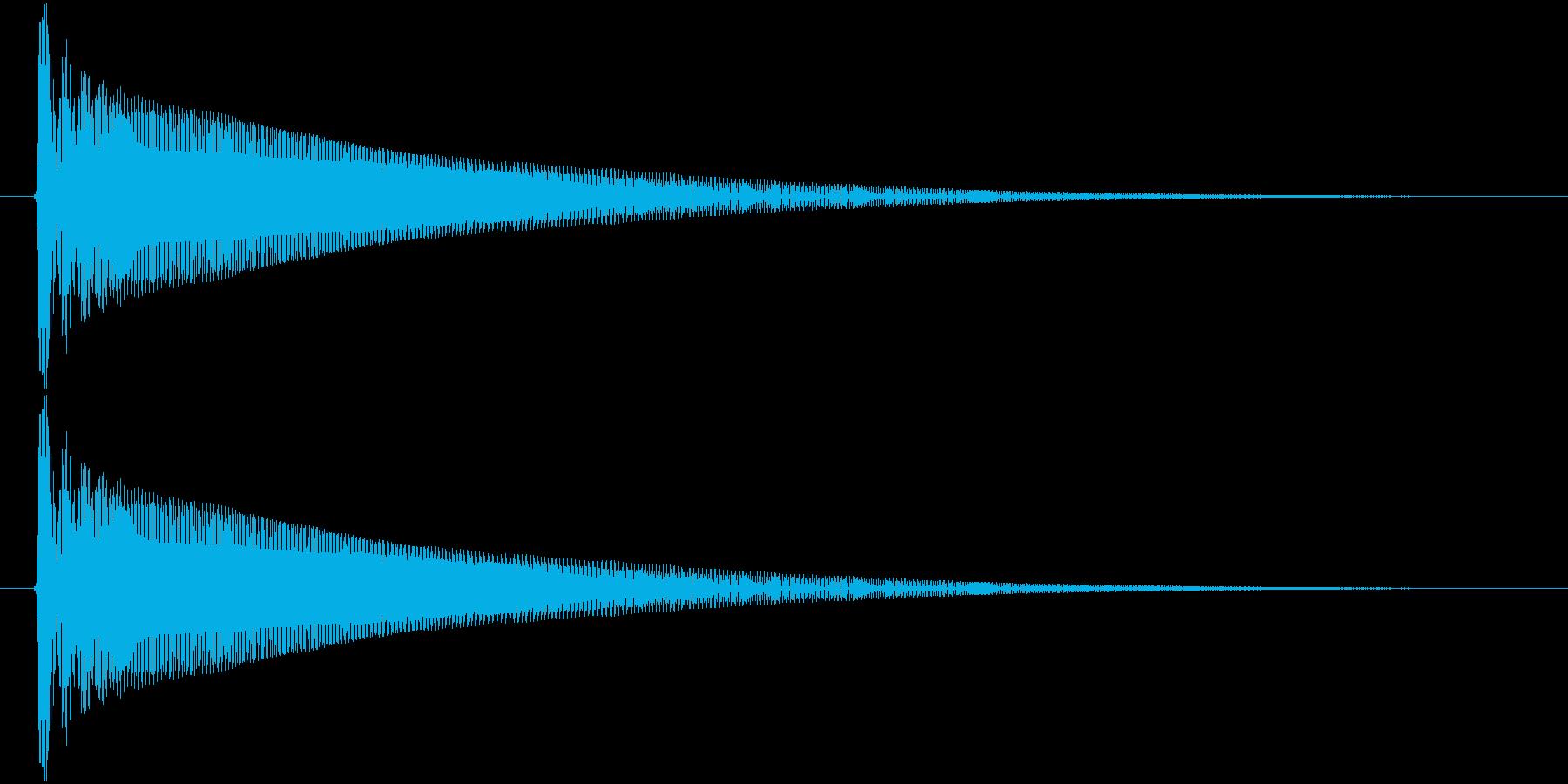 ドゥィ~~~ンの再生済みの波形