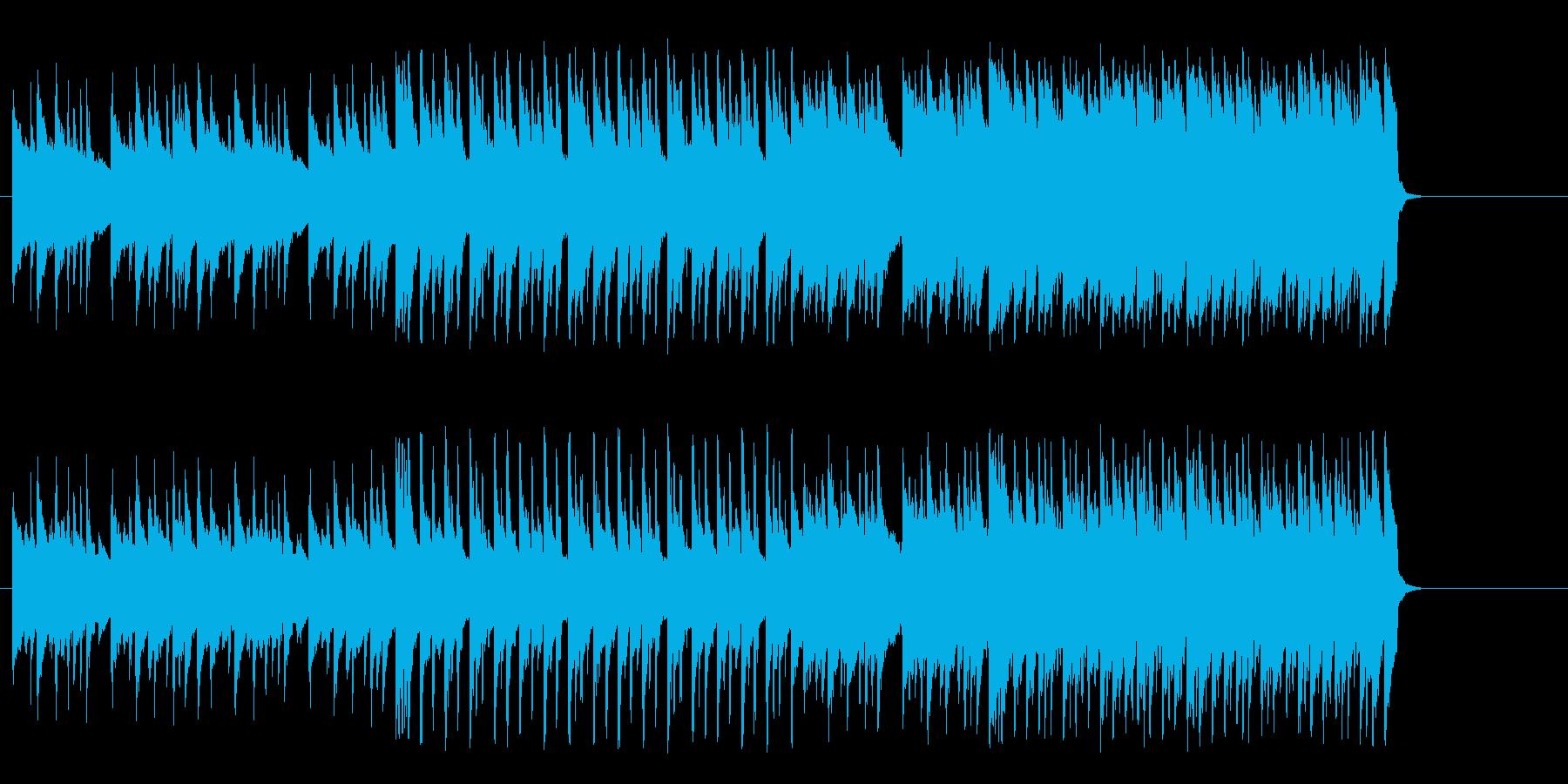 小さな胸の鼓動が膨れ上がるテクノ風の再生済みの波形