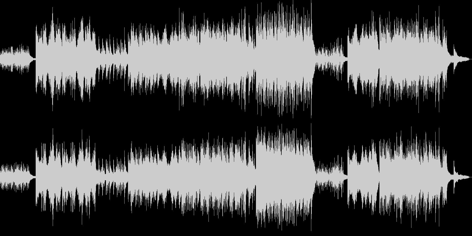感傷的なピアノソロの未再生の波形