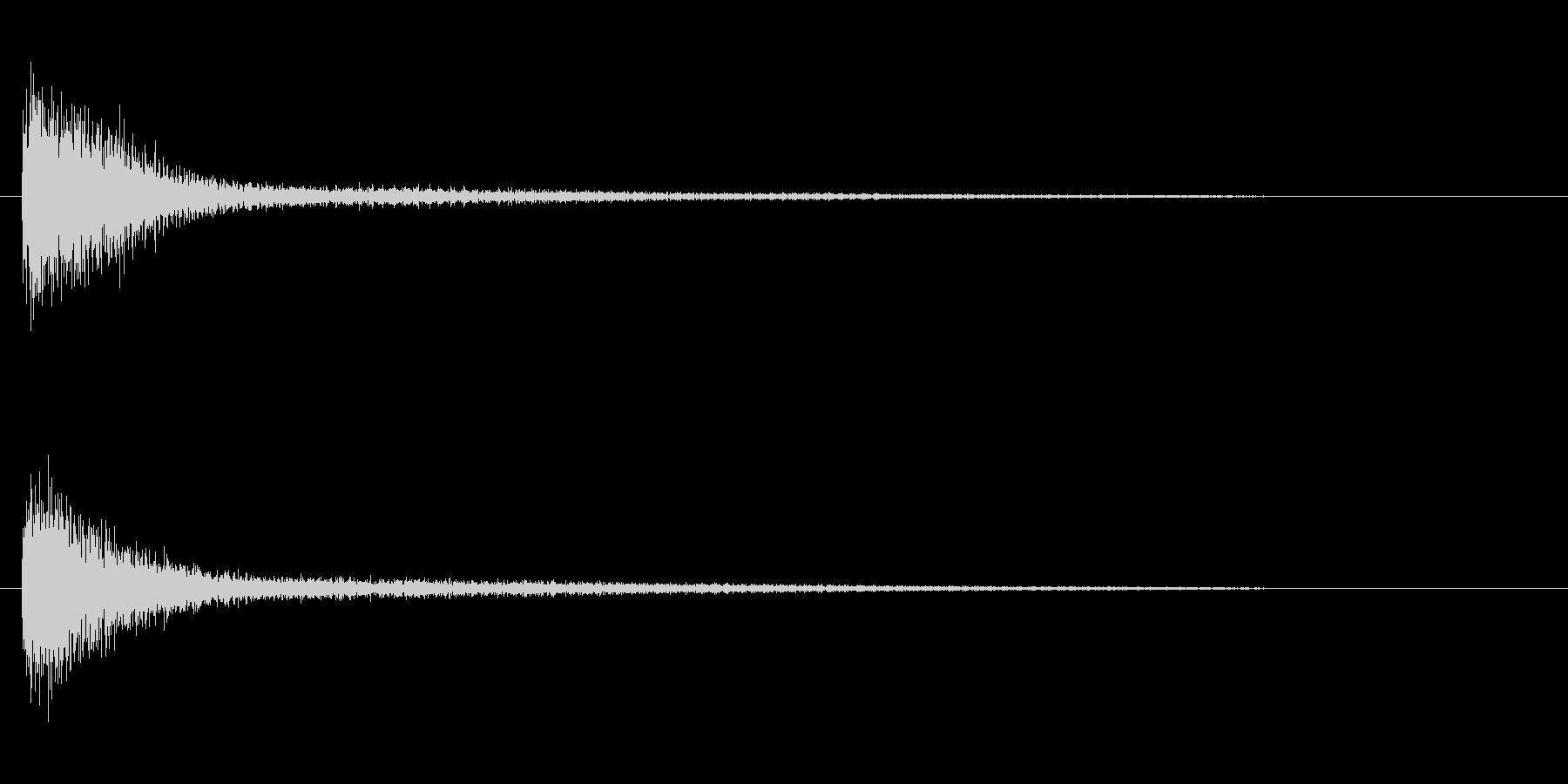 ピアノ効果音 高めのガーン 衝撃 驚愕の未再生の波形