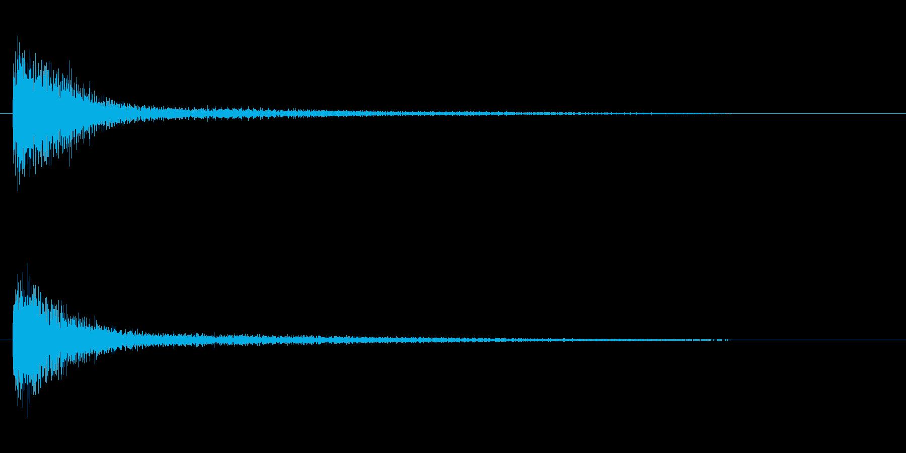 ピアノ効果音 高めのガーン 衝撃 驚愕の再生済みの波形