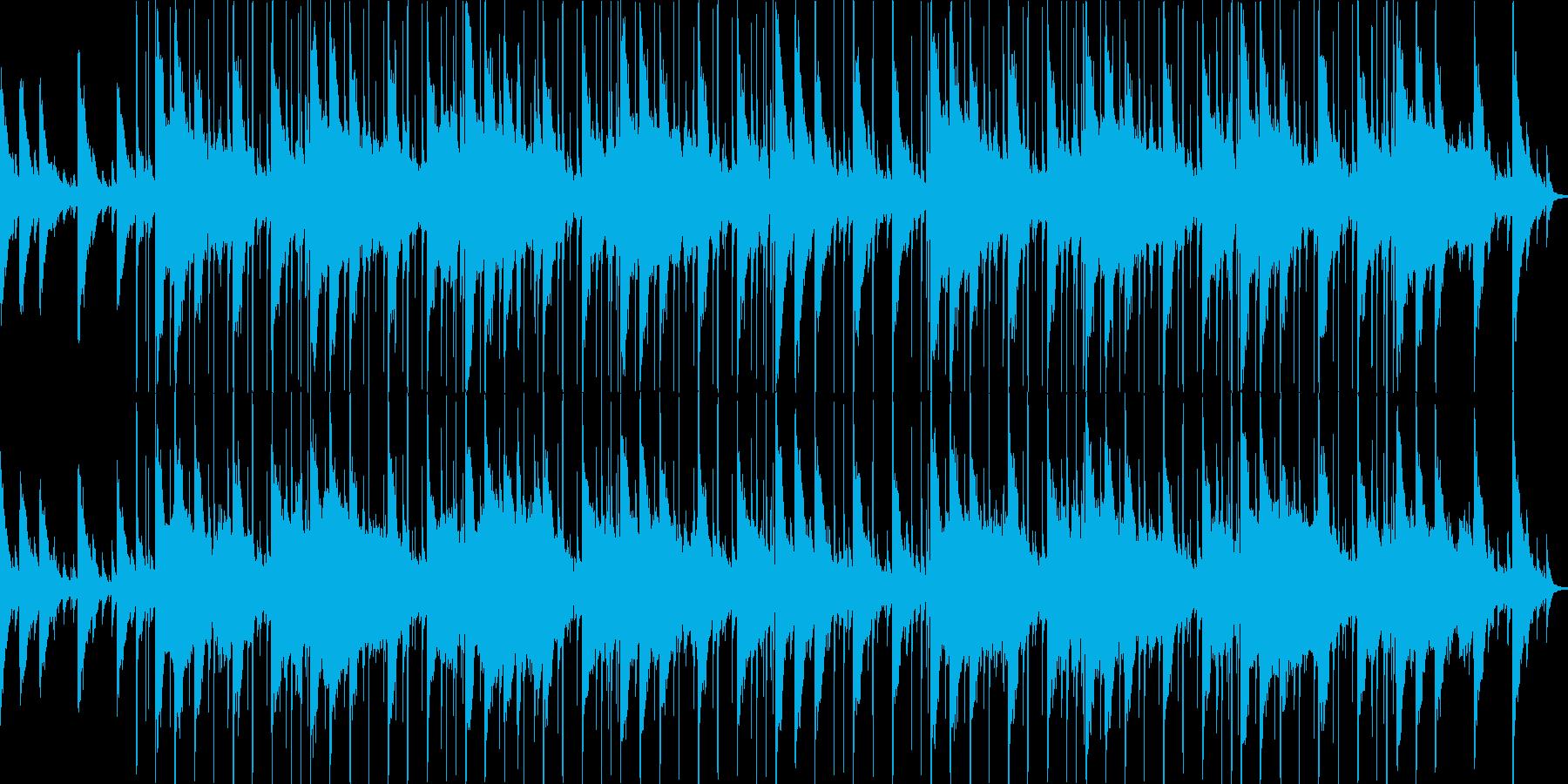 スタイリッシュな雰囲気のループBGMと…の再生済みの波形