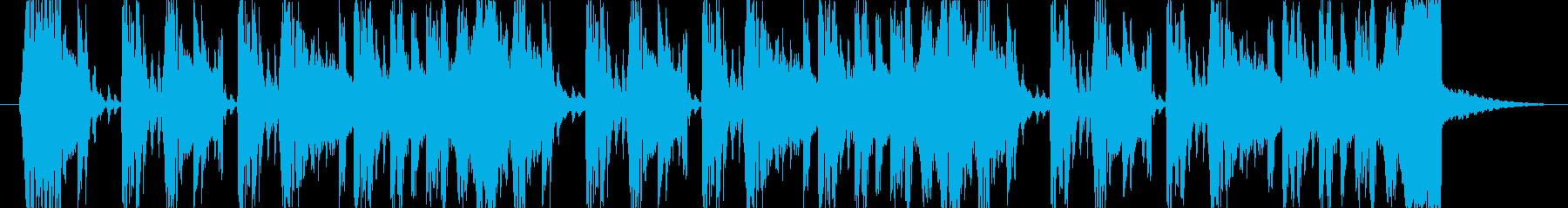 ブレイクビート系ラジオのジングルの再生済みの波形