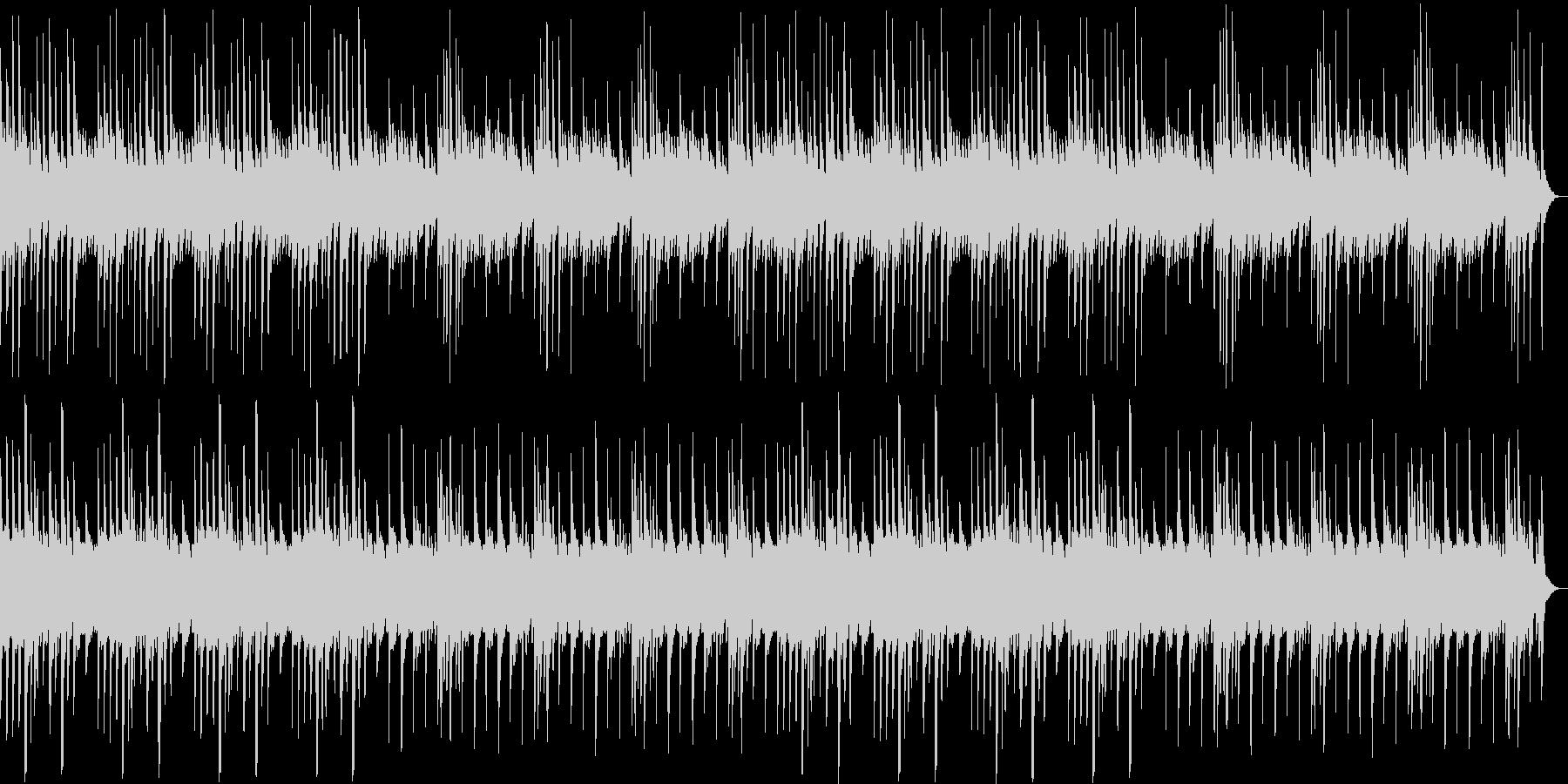 ピアノのゆったりとしたリラックス曲の未再生の波形