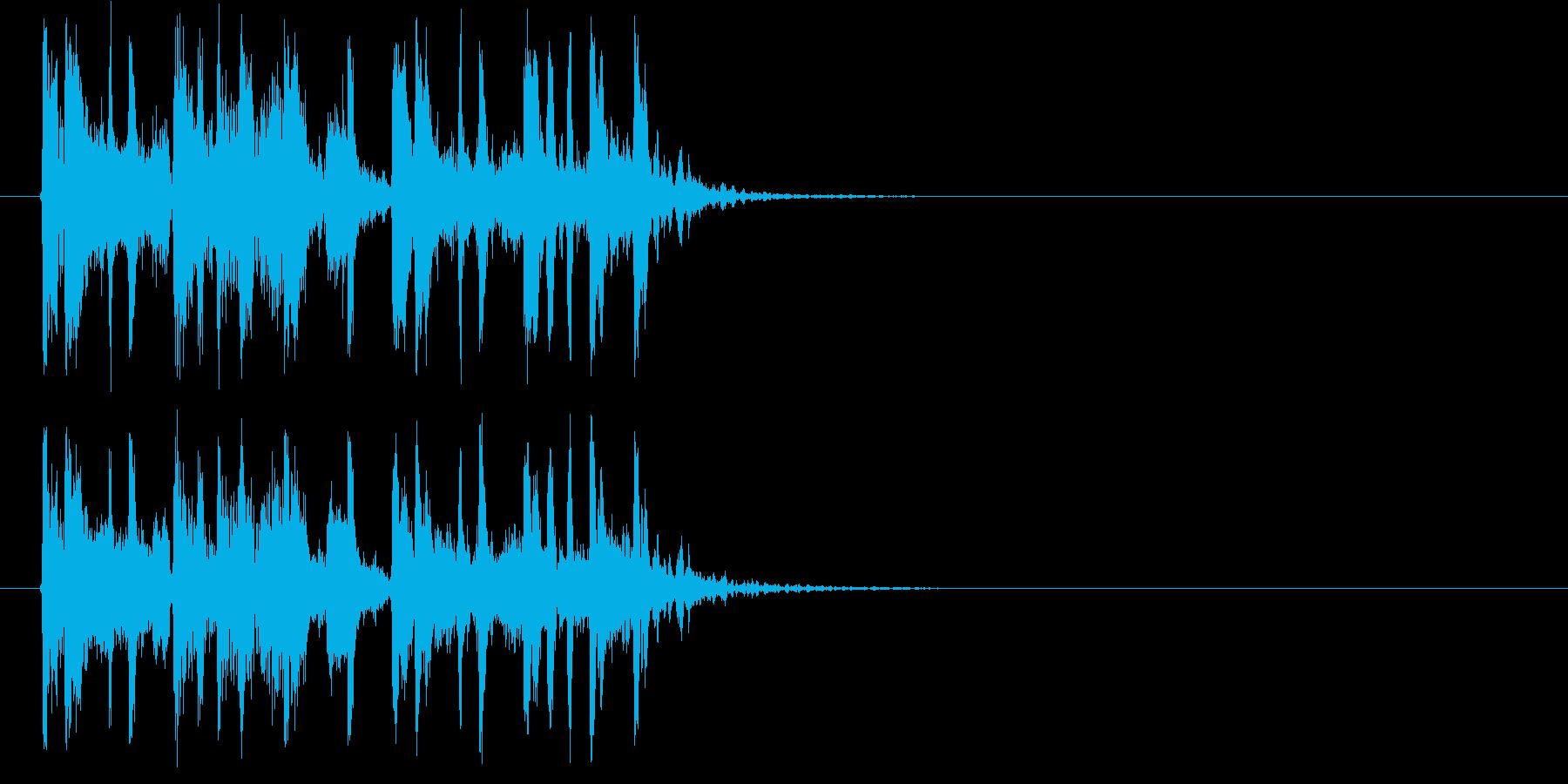 クールなテクノ調のジングル、サウンドロゴの再生済みの波形