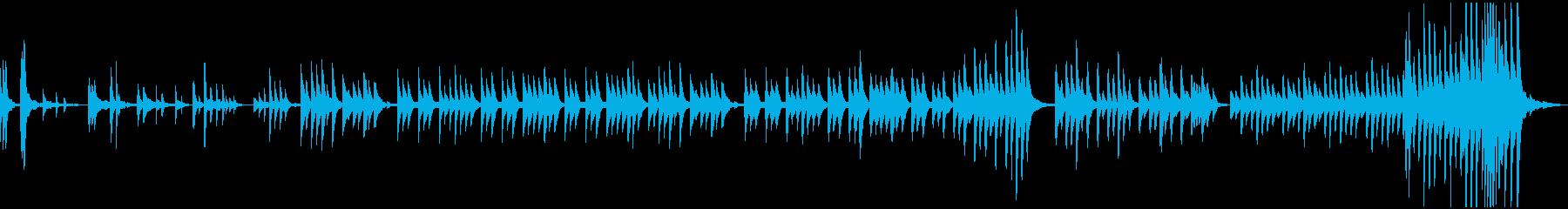ゆっくり、せつない感じのピアノBGMの再生済みの波形