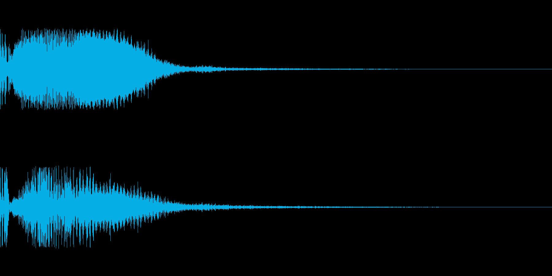 ポワーイ(エフェクト)の再生済みの波形