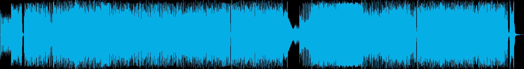 展開が印象的なインストの再生済みの波形