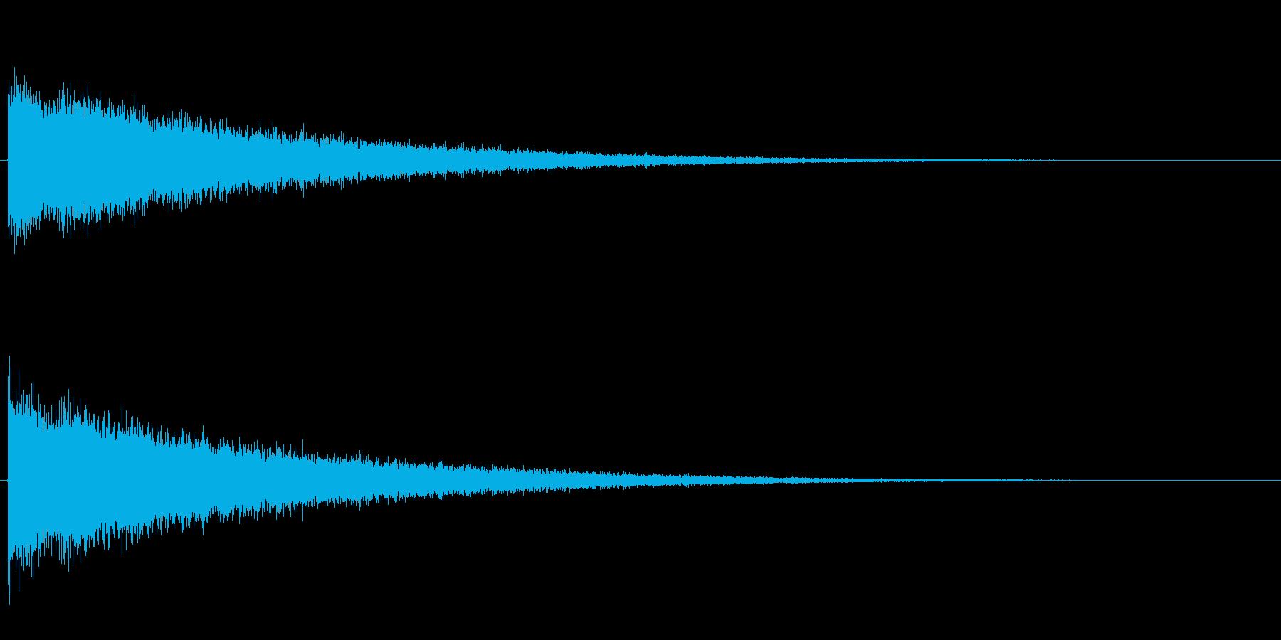 シャンシャン…と高音ノイズがエコーして…の再生済みの波形
