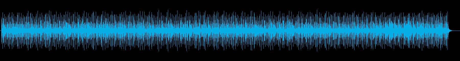 不思議な浮遊感のあるアンビエントな曲の再生済みの波形