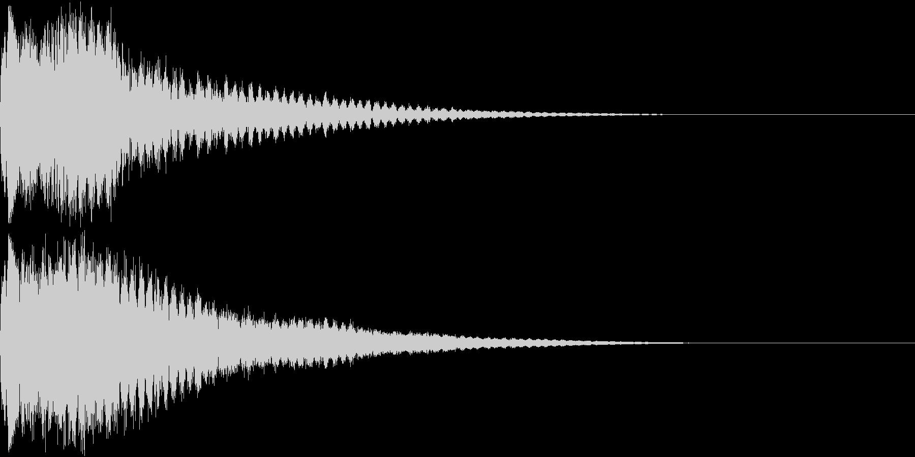 キュイン キュイーン キラリン ピカンの未再生の波形