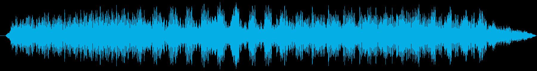 電車の発車ベルの再生済みの波形