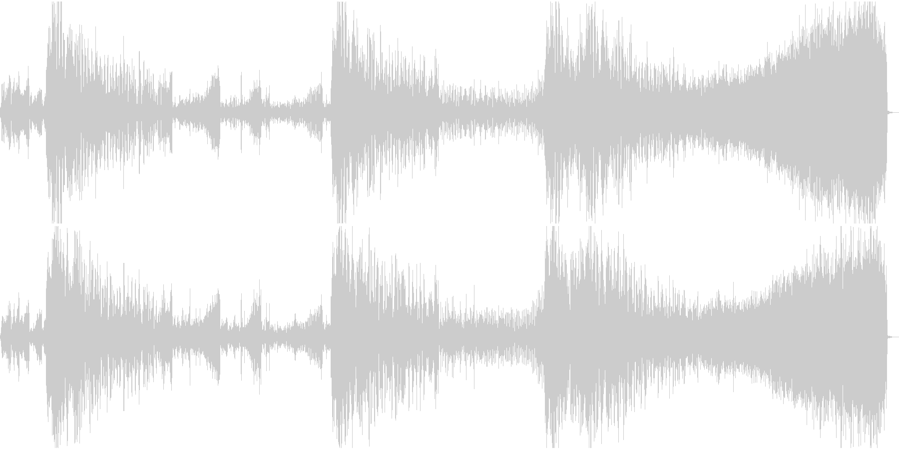 FMラジオ的ジングル3の未再生の波形