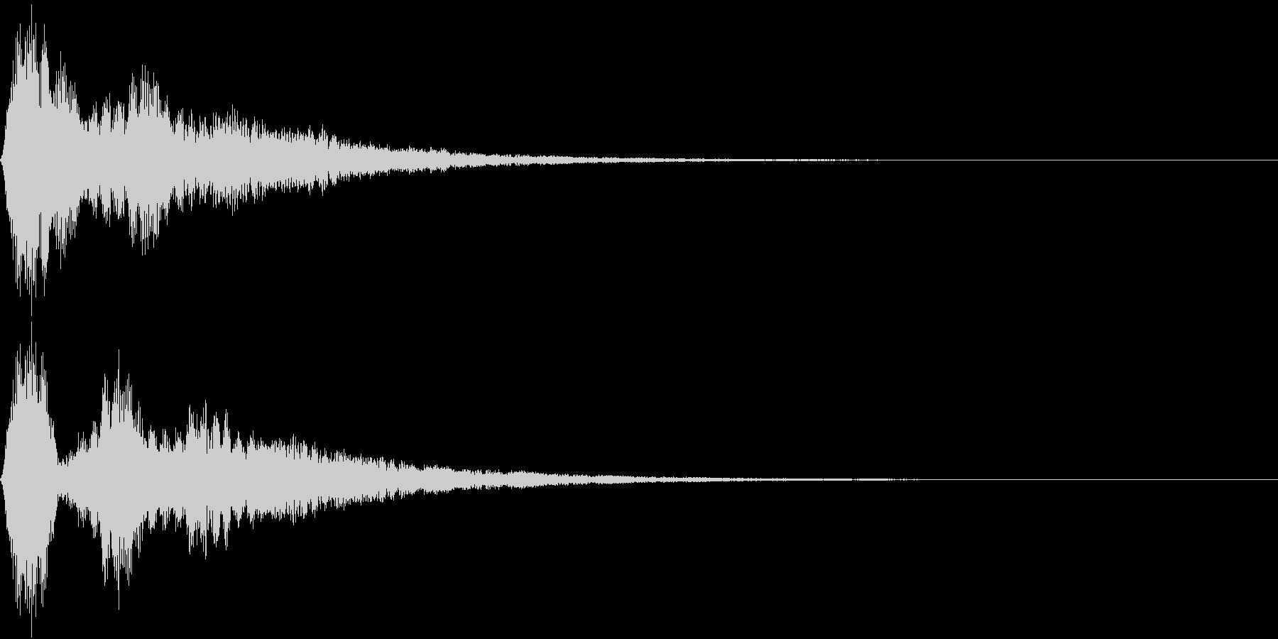 EMail 送受信音 シャリーンの未再生の波形