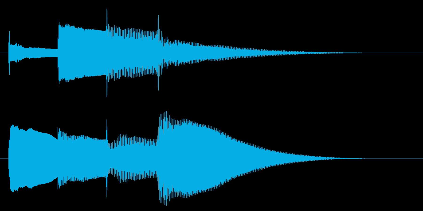 チャイム アナウンス07-4の再生済みの波形