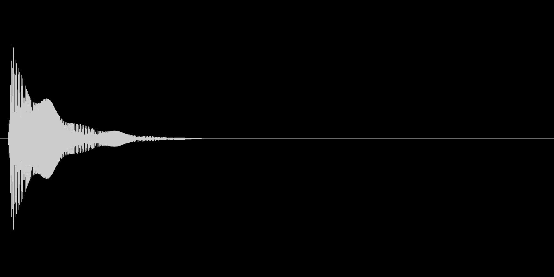 ぷにんっ(柔らかい、触る、触れる)の未再生の波形