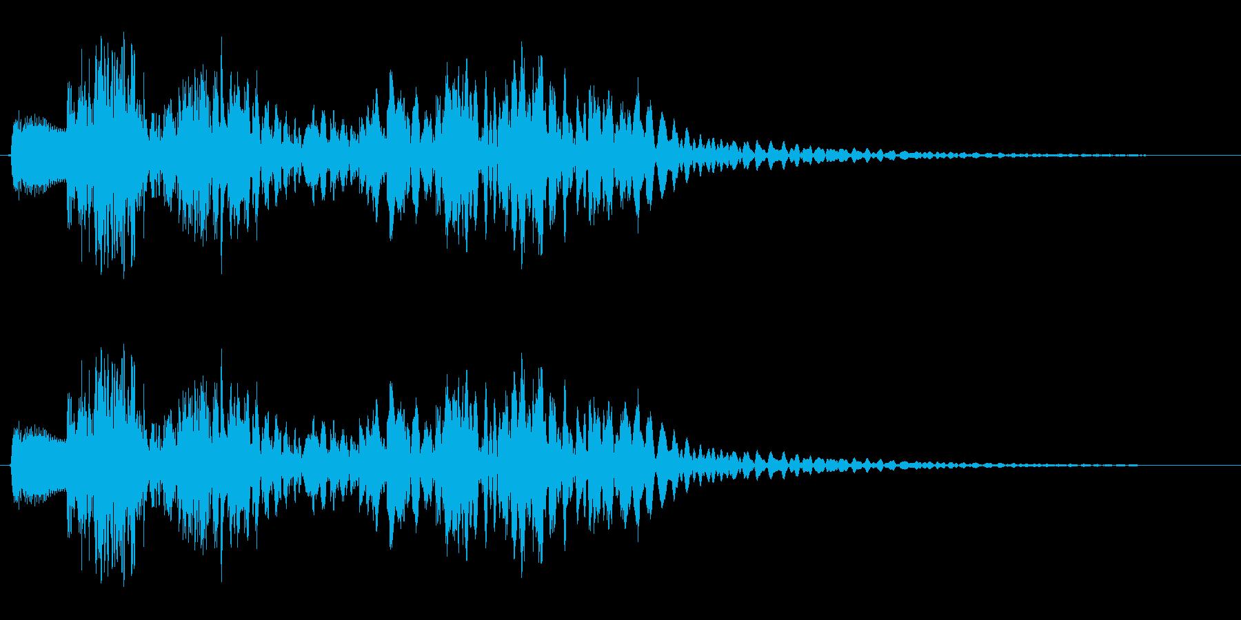 ピロンピロリン (コミカルなピアノ音)の再生済みの波形