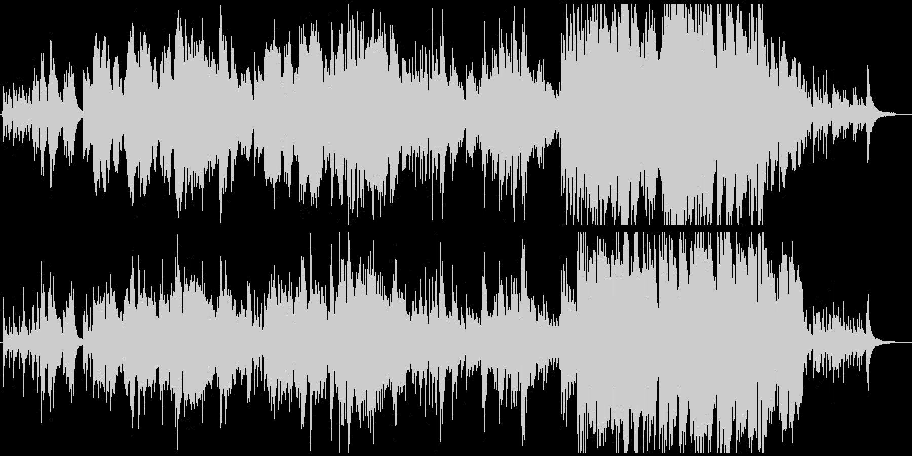 ふるさと(故郷)ピアノとメロディの未再生の波形