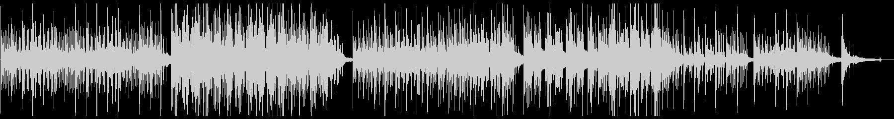 優しく静かなピアノバラードの未再生の波形