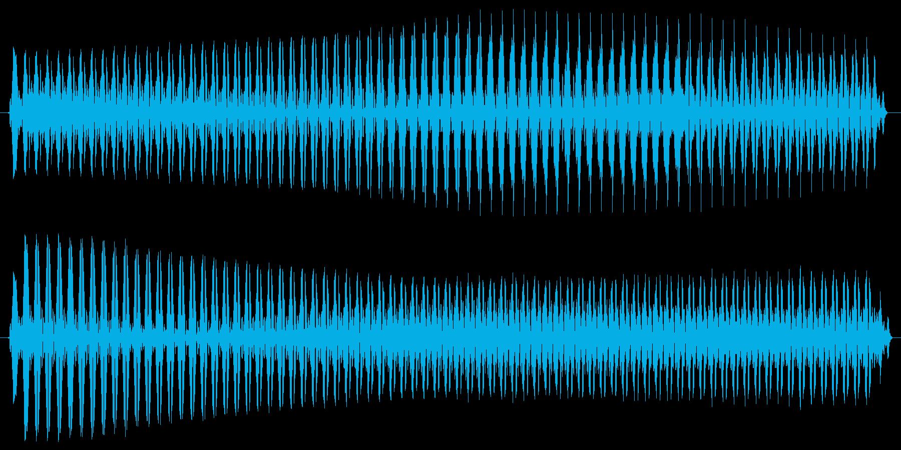 ヴュゥー。クイズ不正解・ブザー音の再生済みの波形