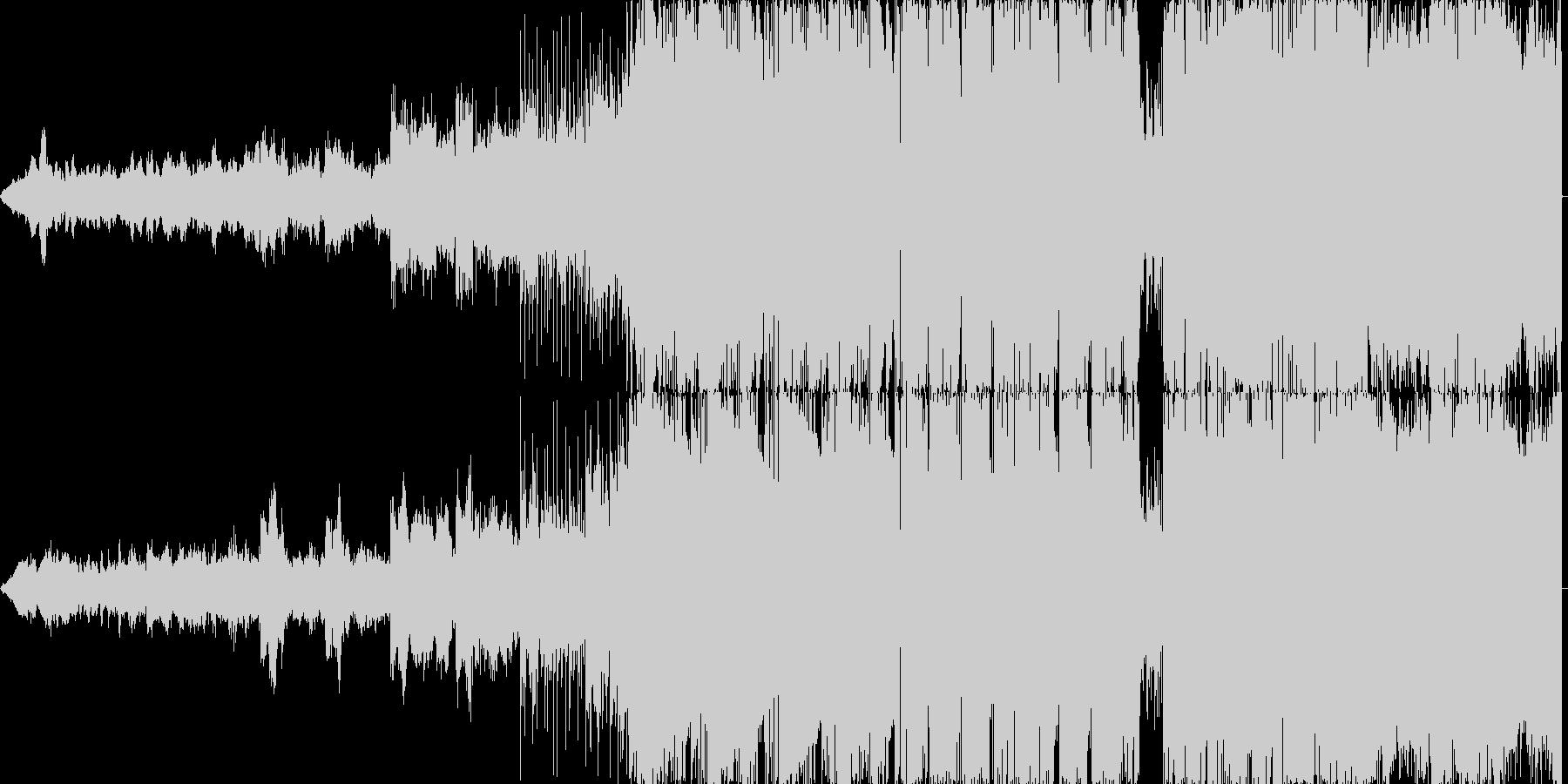 アグレッシブなデジタルロックの未再生の波形