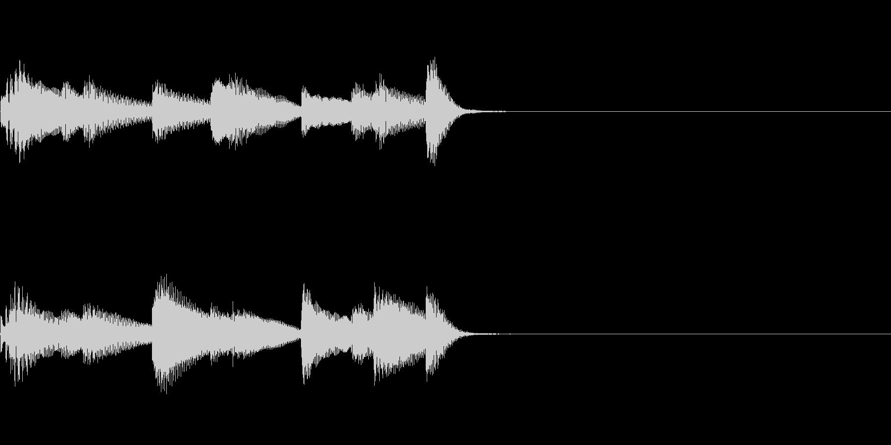 やさしいピアノ・サウンドロゴ3の未再生の波形