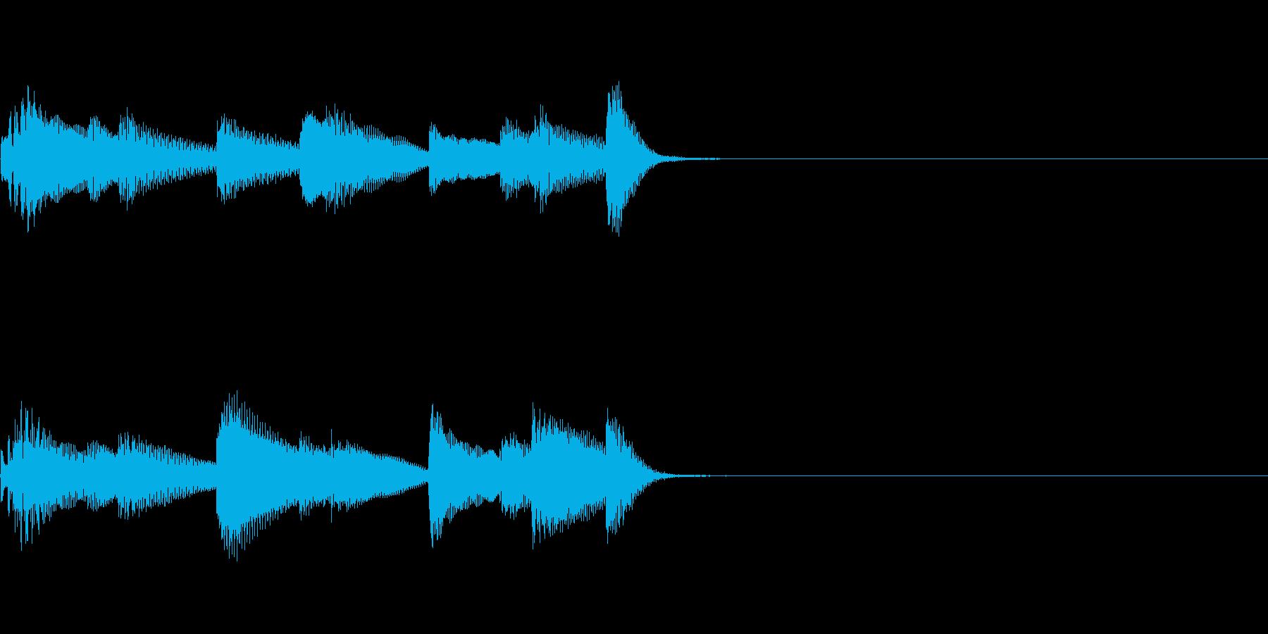 やさしいピアノ・サウンドロゴ3の再生済みの波形
