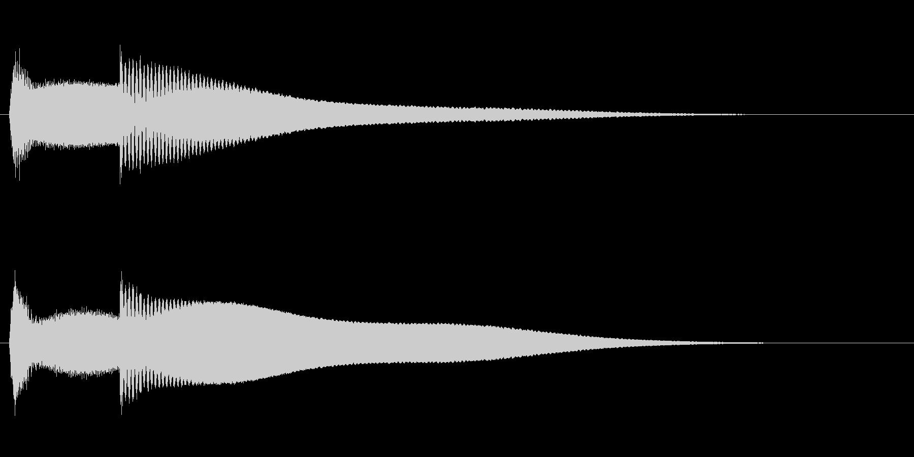 ピンポーン(早押しクイズのボタン)の未再生の波形
