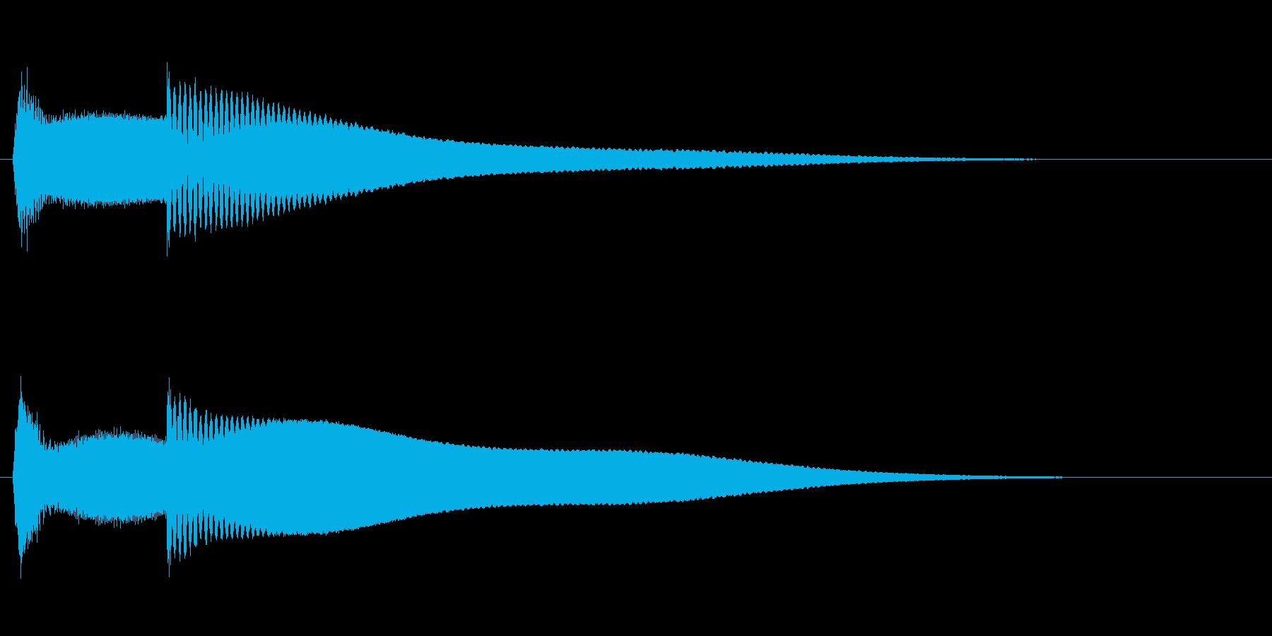 ピンポーン(早押しクイズのボタン)の再生済みの波形