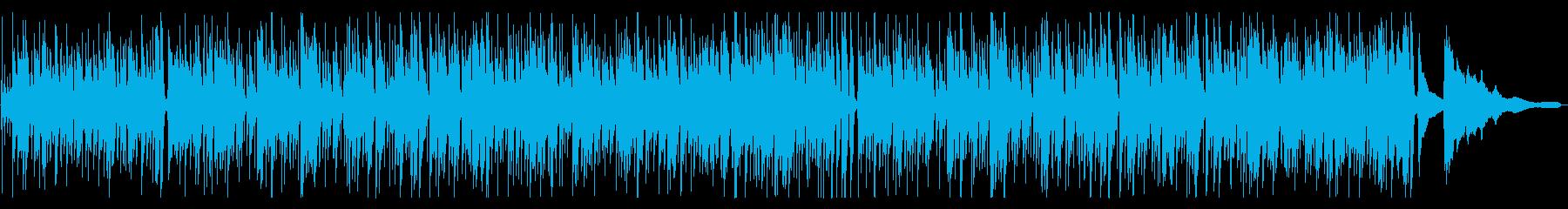 気持ちが明るくなるアップテンポな曲の再生済みの波形