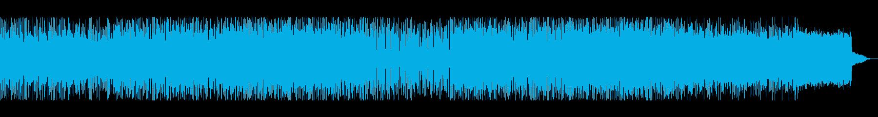 宇宙空間、海中などを想定したBGMの再生済みの波形