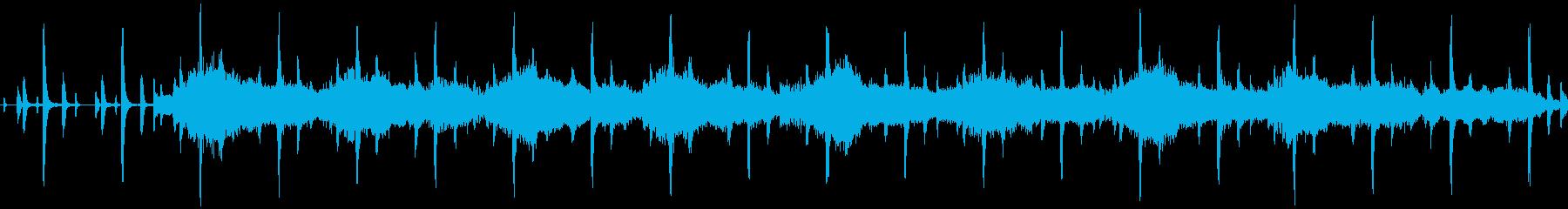 ゲームエンディング向けのループBGMの再生済みの波形