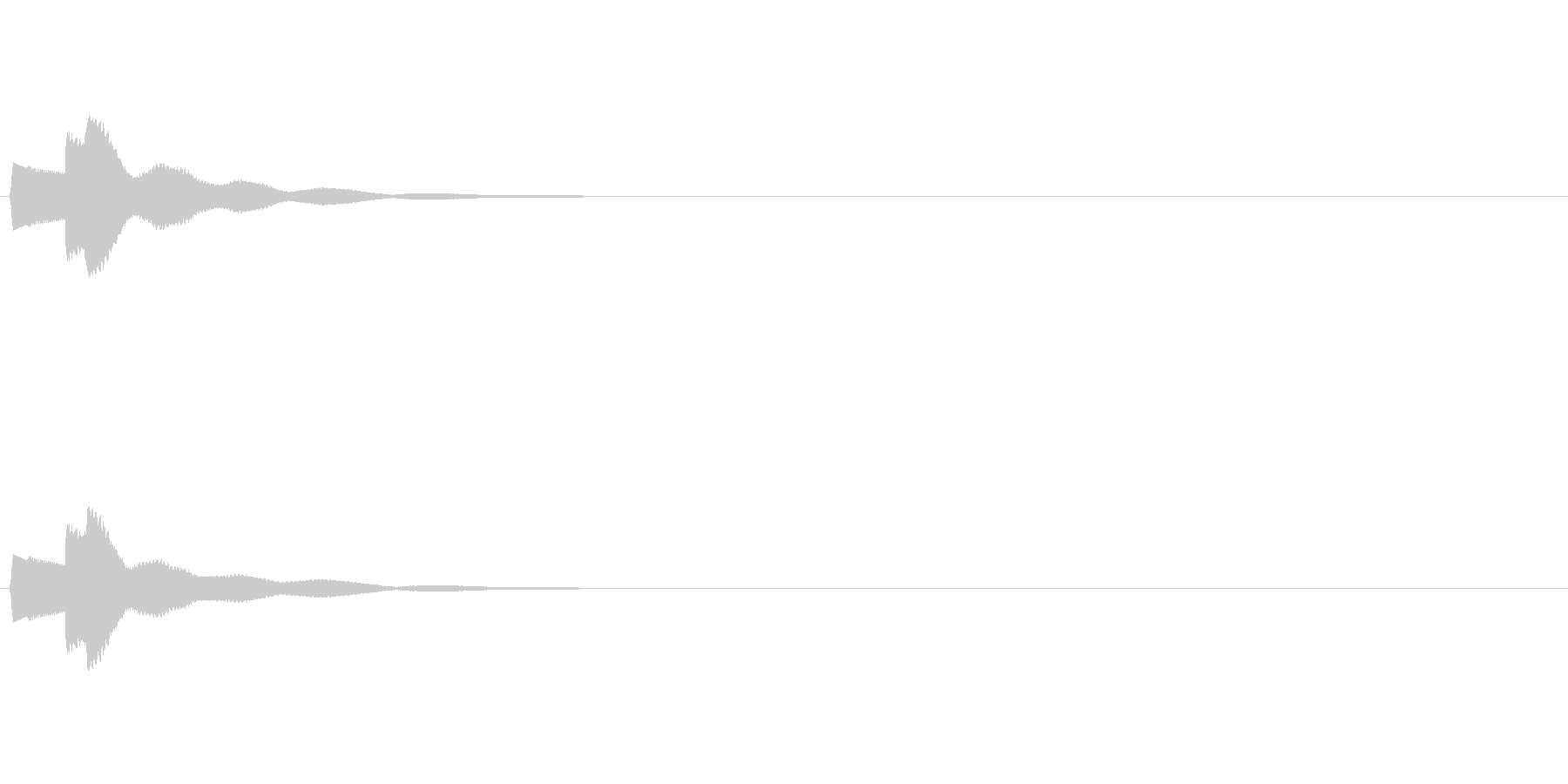 【ひらめき03-1】の未再生の波形