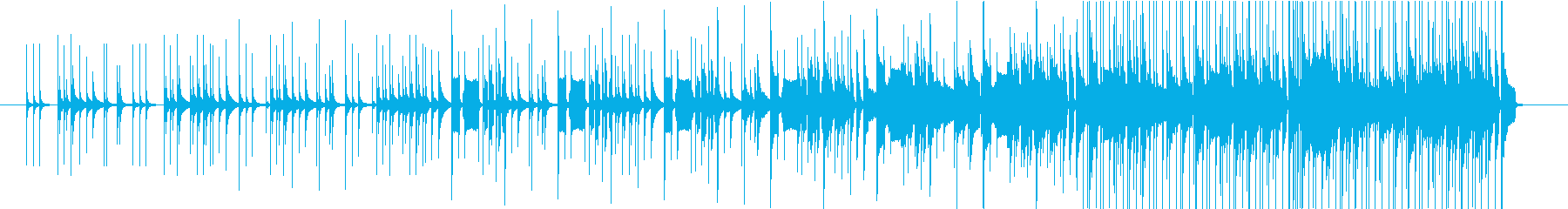 生楽器を使用した陽気な曲ですの再生済みの波形