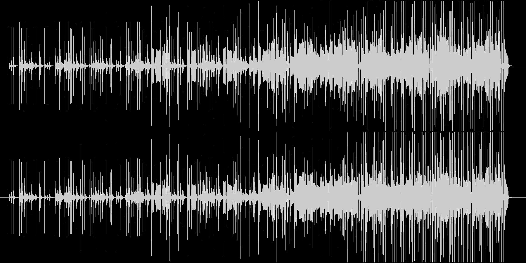 生楽器を使用した陽気な曲ですの未再生の波形