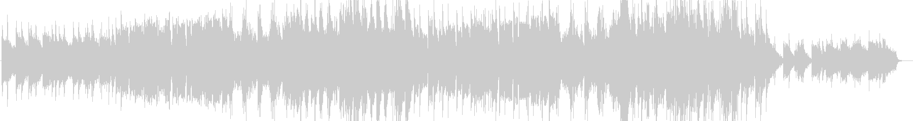 優しく壮大なシンセサイザーサウンドの未再生の波形