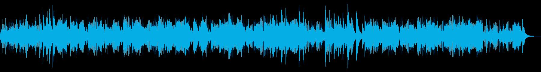 優しく癒しのあるオルゴール曲の再生済みの波形