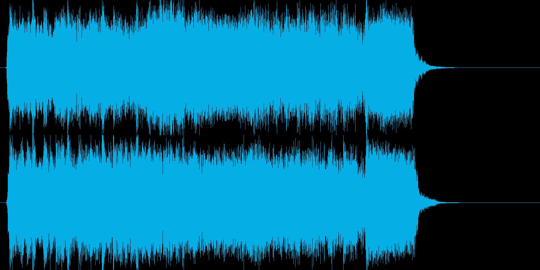 エレキギターによるパワフルジングルの再生済みの波形
