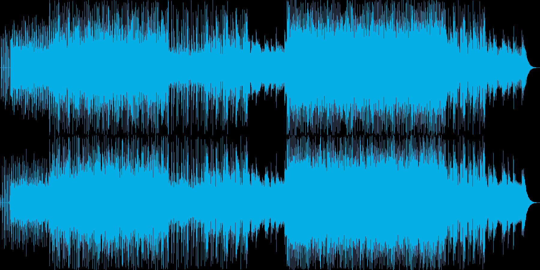 ピアノが冷たい印象で疾走感のあるBGMの再生済みの波形