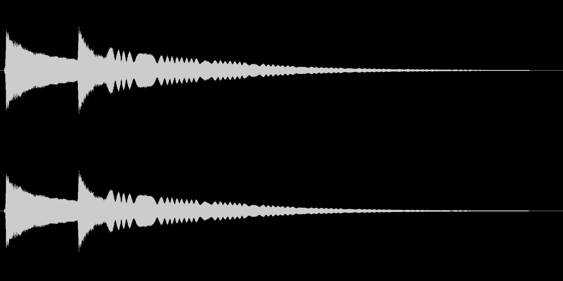 リンリーン(風鈴の音)の未再生の波形